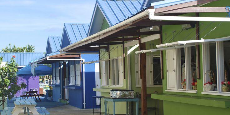 Oistins Fish Fry kiosks in Bridgetown, Barbados.  #Bridgetown #Barbados #Caribbean #OistinsFishFry #cruise #SouthernCaribbean