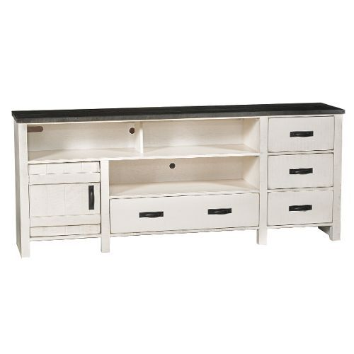 80 Inch Rustic White TV Stand TV Stand - Descanso