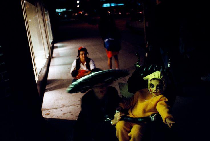 Alex Webb - USA. Brooklyn, New York. October 31, 1999. Halloween.