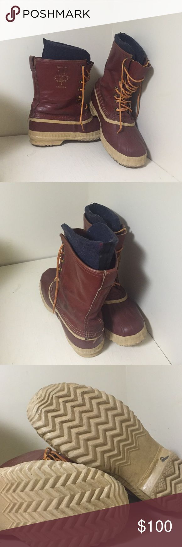 Vintage Sorel duck boots Vintage Sorel duck boots. Size 9 Sorel Shoes Lace Up Boots