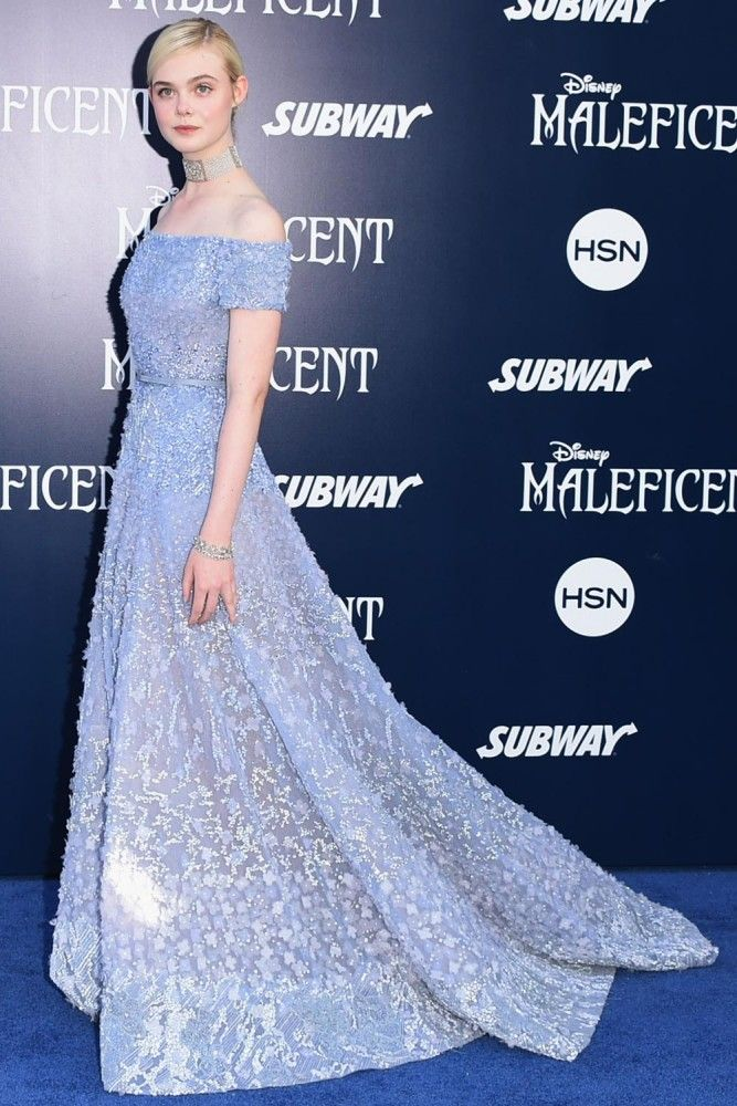 Elle Fanning in a gorgeous fairytale glamour Elie Saab gown