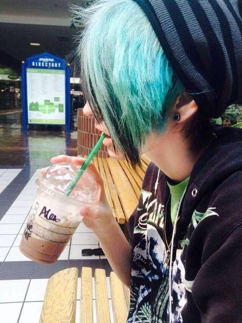 *im not sure if this is a girl or a boy but hey ho* I wish my mom would let me dye my hair like this...plz mom plz