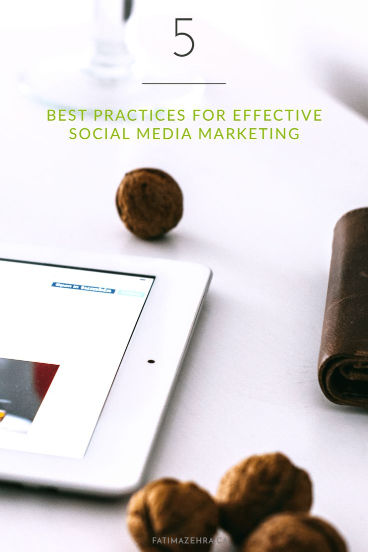 5 Best Practices For Social Media Success