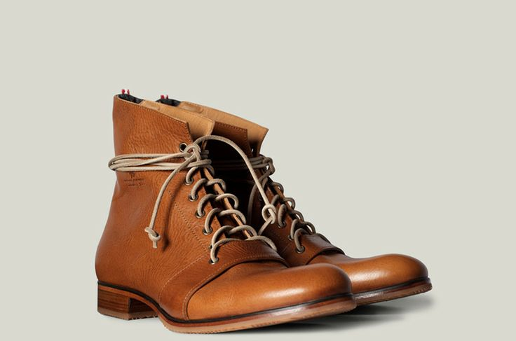 Mens High Boot. Handmade in Italy from über premium vegetable tanned leather. | hard graft
