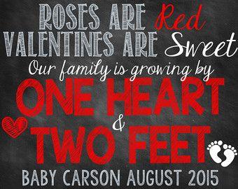 Articles similaires à Valentin grossesse annonce Valentin grossesse révèlent Sweetheart sur Etsy