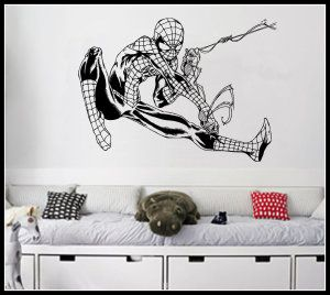 "Flying Spiderman Wall Art Sticker Retro Comic Vinyl Mural WA622, Large 137cm(w) X 100cm(h) Large – 53.93"" Wide X 39.37"" High / 137cm(w) X 100cm(h)Comes with Test Sticker, Instructions and Telephone Help.Sticks to many surface types, internal or external.Applies directly onto the wall for a great looking result.Easily removeable from wall. http://theceramicchefknives.com/marvel-gift-ideas-amazing-spiderman/"