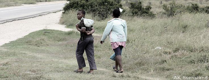Foto: AK Stensland, Bilde tatt ved en township i Sør-Afrika