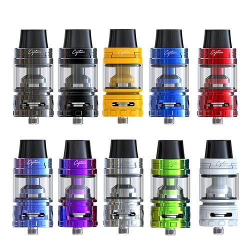 The iJoy Captain S Sub-Ohm Tank implements minor changes with a new sliding retractable top-fill design.