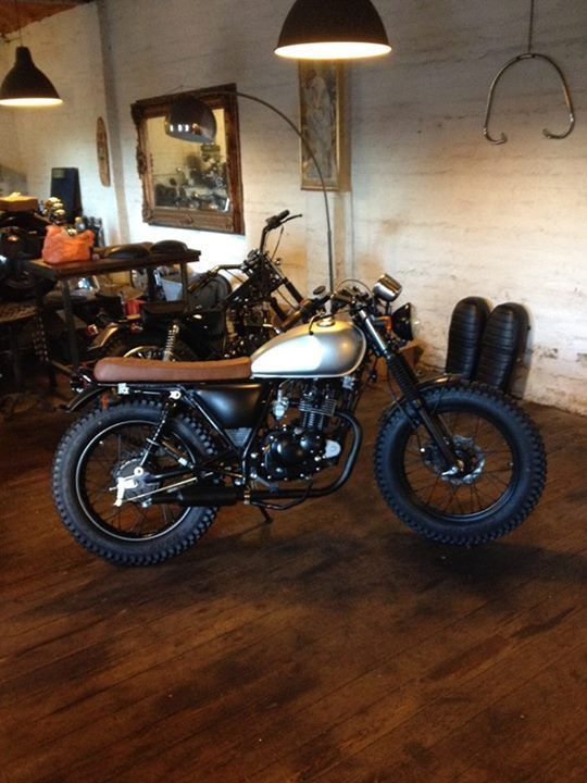 Mutt Motorcycles 125cc scrambler..Retro Steve McQueen Style!
