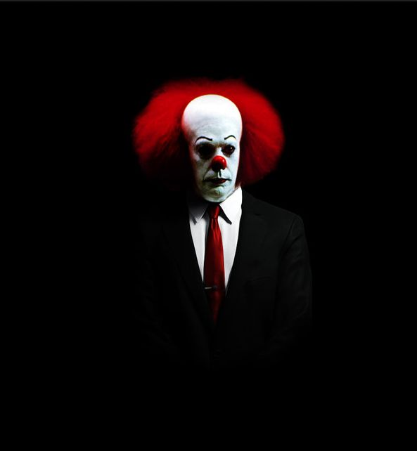is that pennywise in a suit?