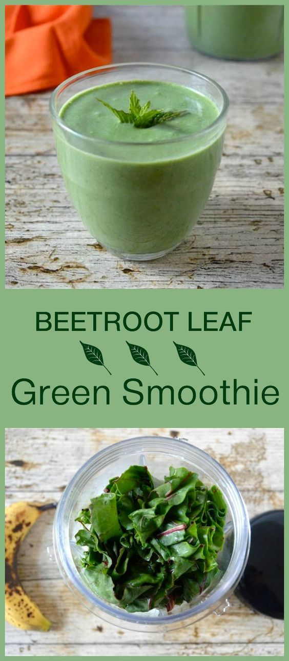 Beetroot leaf green smoothie. Nutritious and delicious and so easy to make in the Optimum Nutri Force Extractor.