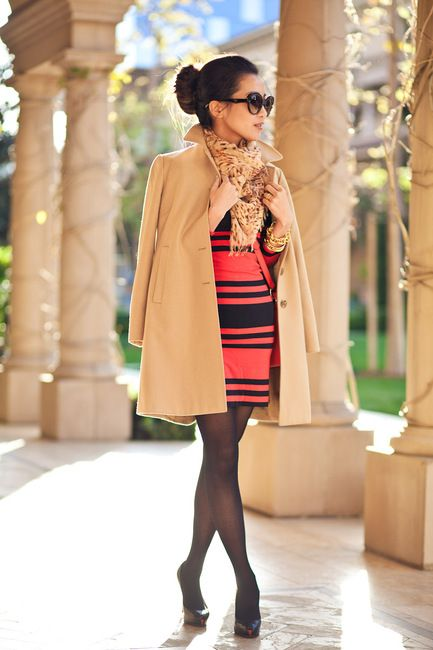 mini dresses with a long trench.