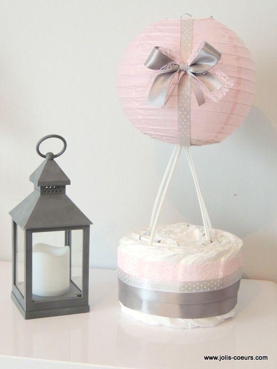 Gâteau de couches cadeau naissance