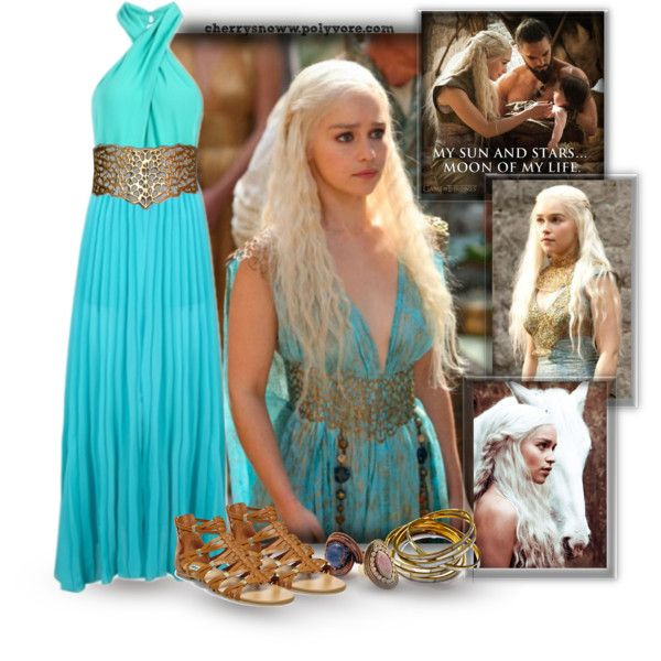 Polyvore contest, Favorite heroine - Khaleesi Daenerys Targaryen by cherrysnoww on Polyvore featuring Steve Madden, Gipsy, Forever 21, Laundry, GameOfThrones, khaleesi, daenerys and targaryen