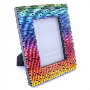 Recycled magazine picture frame
