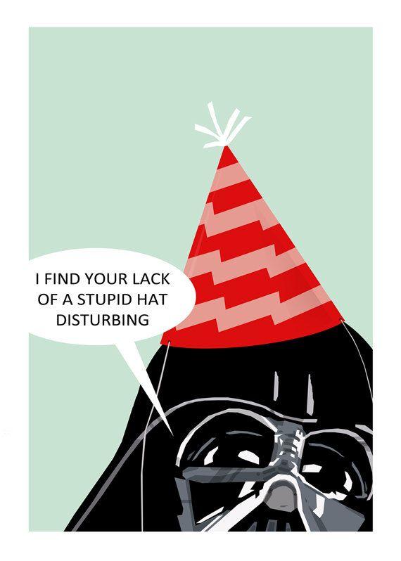Birthday Card Star Wars Darth Vader Birthday By