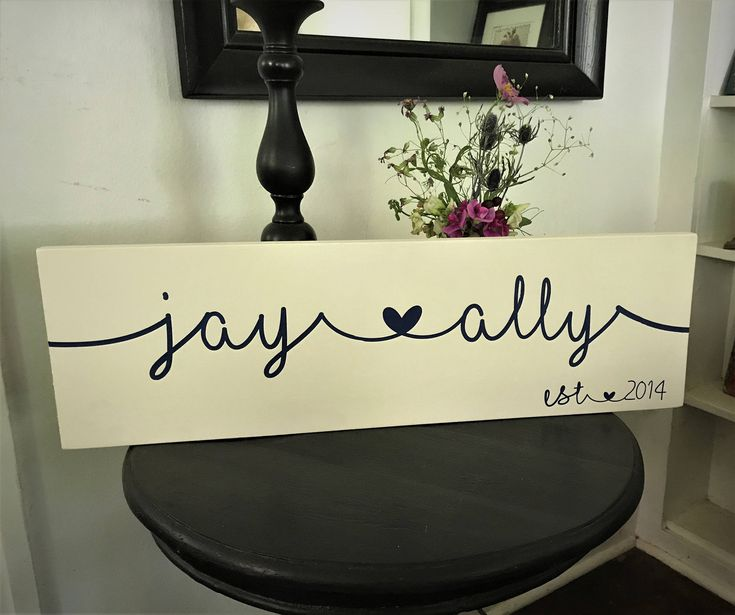 A personal favorite from my Etsy shop https://www.etsy.com/listing/541180759/personalized-name-sign-custom-name-sign
