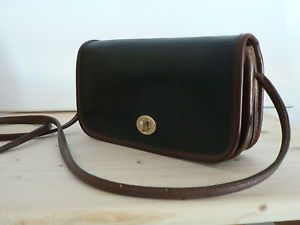 VINTAGE-COACH-USA-DINKY-BAG-GREEN-TAN-XBody-Flap-Front-TURNLOCK-REHABBED-CLEAN
