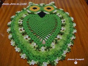tappeto gufo | Hobby lavori femminili - ricamo - uncinetto - maglia