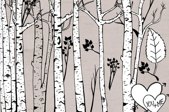 Check out Birch Tree ClipArt - Photoshop Brush by CarrieStephens on Creative Market
