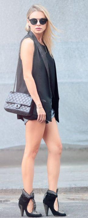 Catalina Grama All In Black Tux Vest Fall Inspo