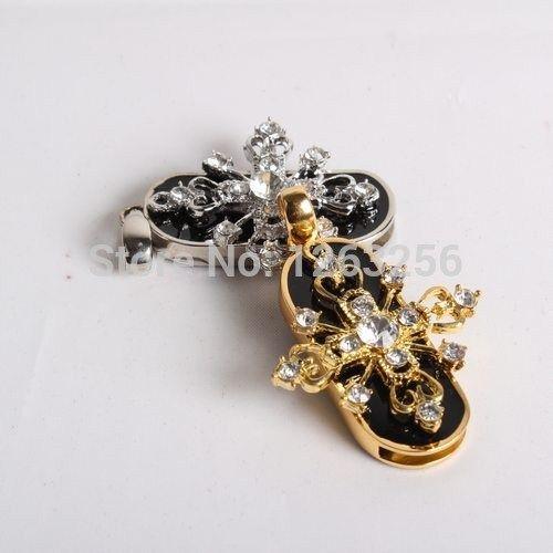 Ювелирные изделия Кристалл ожерелье крест usb flash drive necklace 8 ГБ 16 ГБ 32 ГБ ручка привода флешки кристаллический подарок диск гаджет usb memeory