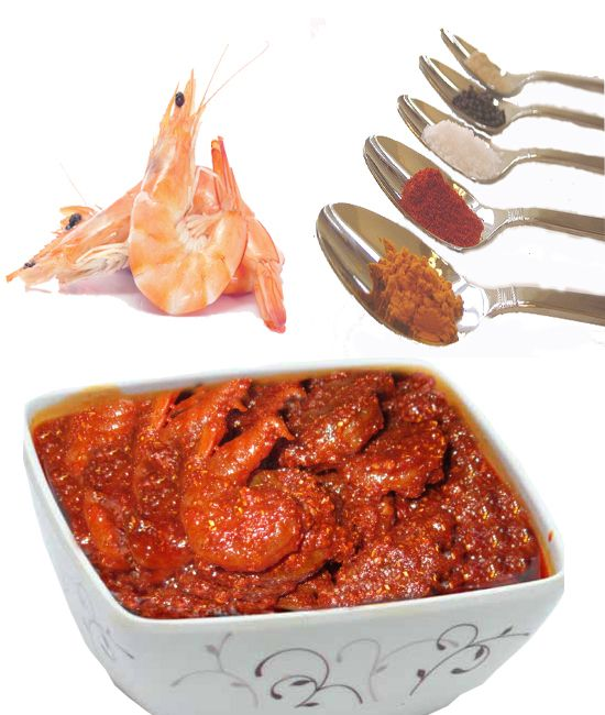Ingredients we use in Making Prawns Pickle   1. Raw Prawns (2Kgs)  2. Ginger  3. Turmeric Powder  4. Chilli Powder  5. Salt  6. Olive/Sun Flower Oil  7. Garlic  8. Mashallah Dinusulu  9. Dhaniyala Podi  10. Gasagasalu (Poppy Seeds)   Yes We use 2 Kgs of raw prawn quantity in making 1 KG Prawn Pickle this is due to there will be a lot of wastage while making prawns clean. Many CX's are asking how much quantity of prawn you use in pickle, so I shared here.