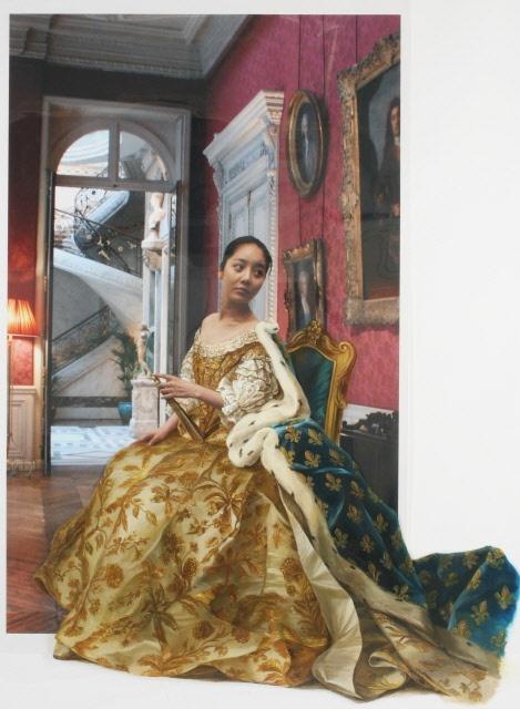 The Costume of Painter - J.M.Nattier 080830  2008  oil on vinyl, vinyl on photograph  210 x 154cm