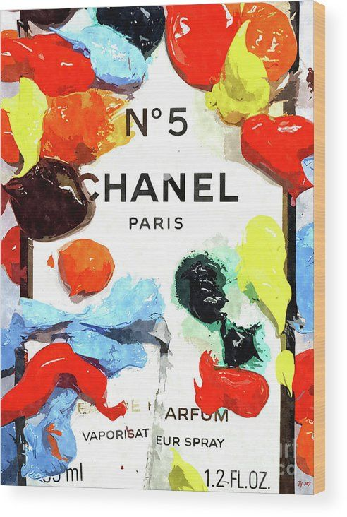 Chanel Colors Wood Print by Daniel Janda. All wood prints are professionally printed, packaged, and shipped within 3 - 4 business days and delivered ready-to-hang on your wall. Choose from multiple sizes and mounting options.