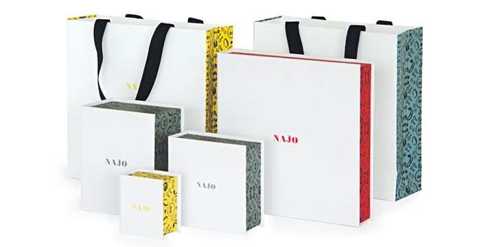 Najo brand packaging. Brand and packaging created by Truly Deeply.