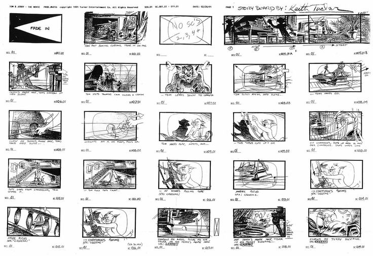Tom And Jerry Storyboards In 2019
