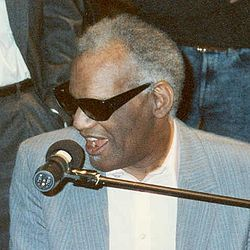 Ray Charles Robinson (September 23, 1930 – June 10, 2004), known by his shortened stage name Ray Charles, was an American musician. He was a pioneer in the genre of soul music during the 1950s by fusing rhythm and blues, gospel, and blues styles into his early recordings with Atlantic Records.[1][2][3] He also helped racially integrate country and pop music during the 1960s with his crossover success on ABC Records, most notably with his Modern Sounds albums.