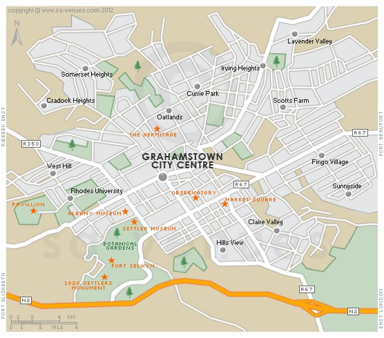 GRAHAMSTOWN Map