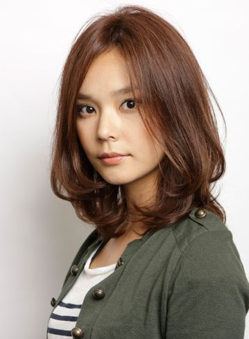 Image result for medium length womens permed asian hairstyles