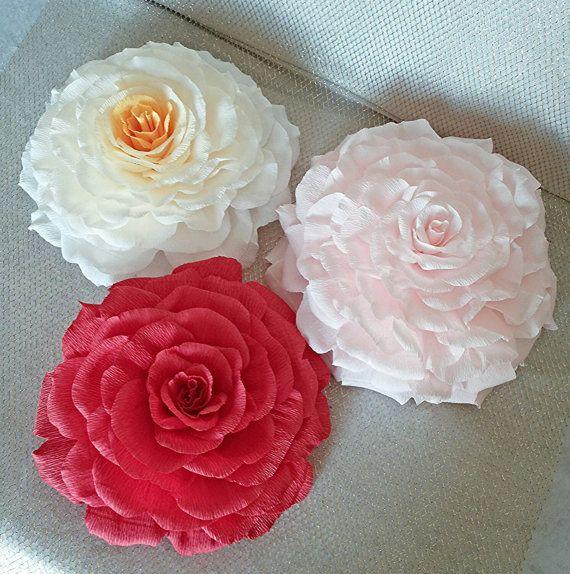 Papel gigante flor, silla papel flor Reino Unido, crepe papel decoración rosa, nupcial ducha, escenario de la boda, boda, despedida de soltera