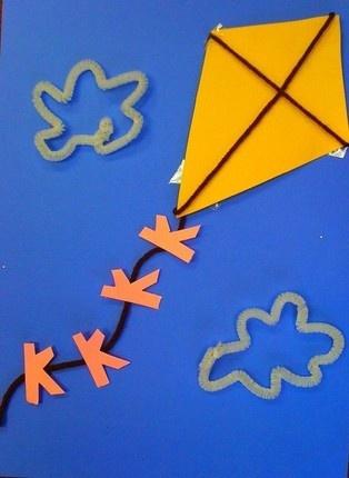 K-kite with letter K running down the string!