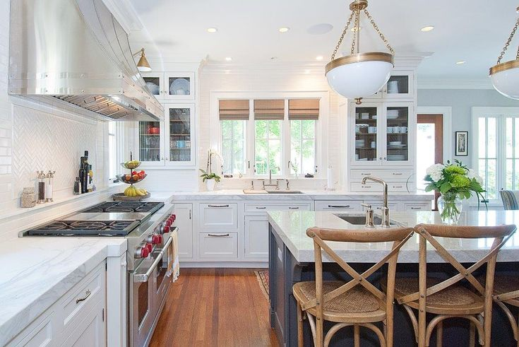 Dazzling pot filler faucet in Dining Room Transitional with Kitchen ...