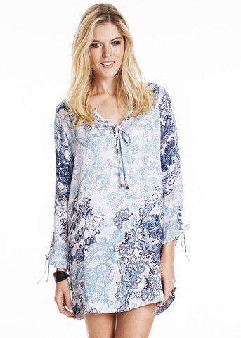Odd Molly Grassland Short Dress 615M-704 vintage blue – acorns