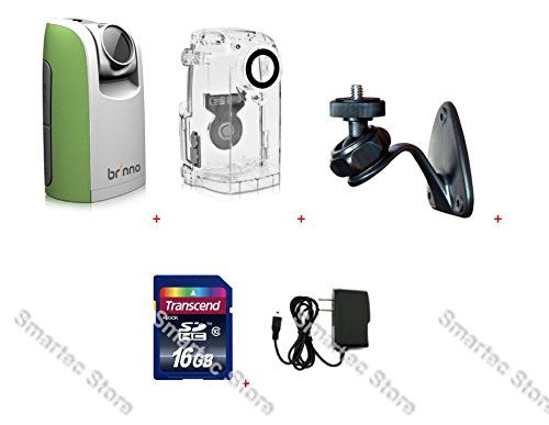 Brinno Time Lapse Camera TLC200 Green + ATH110 Weather Resistant Housing Case + AWM100 Wall Mount + Power Supply + 16GB SD Card. BUNDLE INCLUDES:. - BRINNO TIME LAPSE CAMERA TLC200 GREEN. - BRINNO ATH110 WEATHER RESISTANT HOUSING CASE. - BRINNO AWM100 WALL MOUNT. - WALL POWER SUPPLY + 16GB SD CARD.