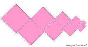 www.juf-lisanne.nl Montessori roze toren voorbeeld 2 / Montessori pink tower extension sheet 2