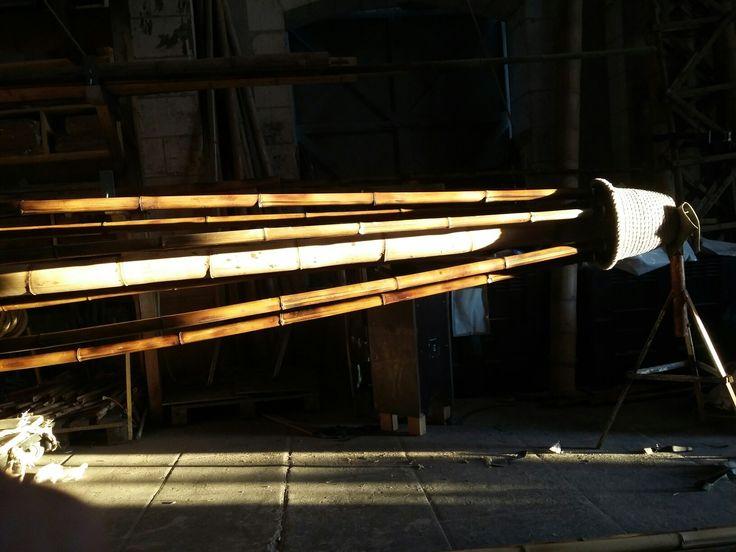 Mât central. Fait à l Atelier par Bambouscoopic.