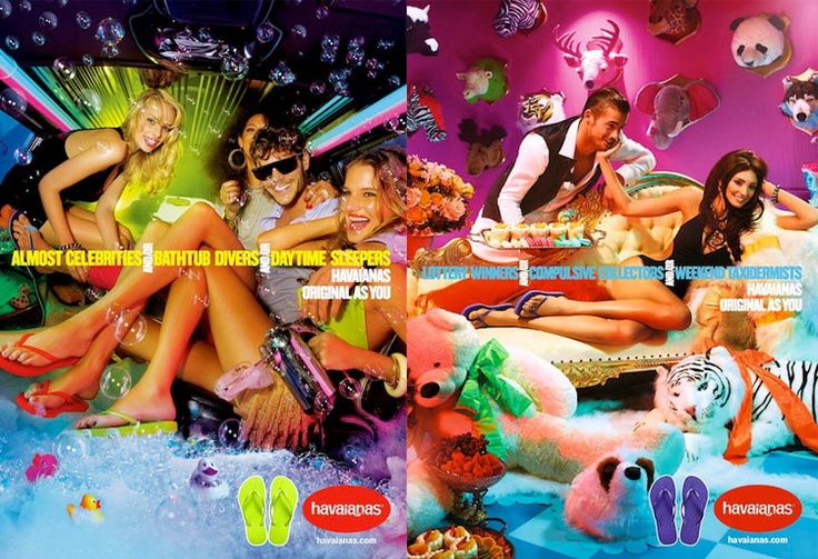 The new havaianas ad campaign - by David Lachapelle and Miles Aldridge