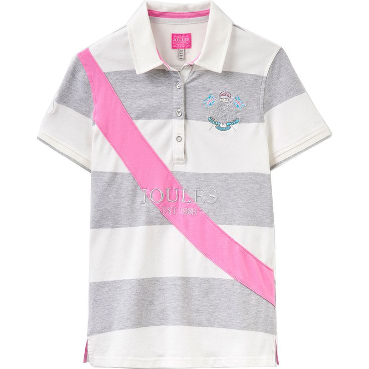 Joules Ladies Liberty Polo Shirt available from Derbyhouse