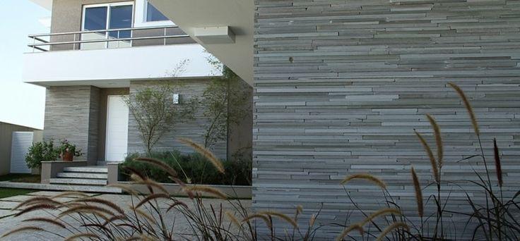 Revestimiento de paredes exteriores de color gris - Revestimiento para exterior ...