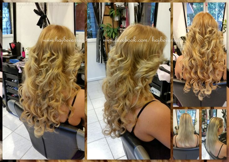 Hajhosszabbítás 60 cm-es európai hajból, 3 soros mikrogyűrűs felvarrással.  #hajhosszabbitas #hajdusitas #hairextension www.fb.com/hajbevarras