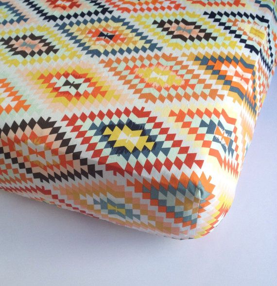Aztec Baby Bedding Changing Pad Cover / Fitted Crib by Babiease