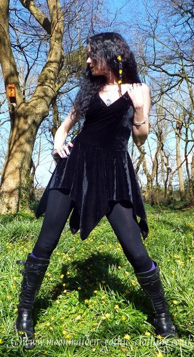 Nymphalinae Crossover Minidress by Moonmaiden Gothic Clothing UK