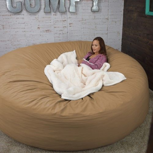 Bean Bag Bed 8-Foot Xtreem Oversized Bean Bag Chair in Micro Suede, Pitch Black | Jet.com