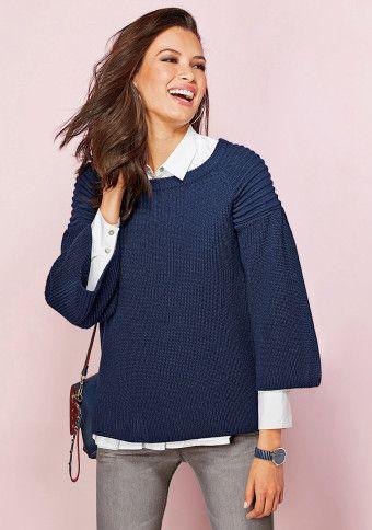 Široký pulovr se 3/4 rukávy #ModinoCZ #stylish