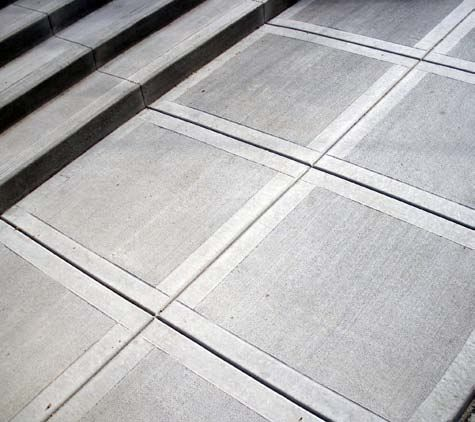 Quot Window Pane Quot Concrete Finish Scoring Can Be Combined With